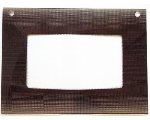 Стекло духовки наружное плиты GEFEST 1200С К19, коричневое, 598*450мм (1300.11.0.001-08р.12)