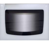 Стекло духовки наружное плиты GEFEST 1200С, белое, с отверстиями под ручку духовки, 598*442мм (1200.18.1.001-01)