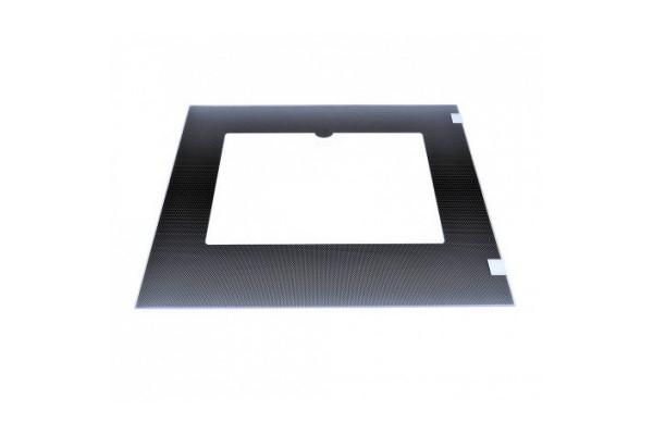 Стекло духовки наружное плиты GEFEST 3200, 3300, 3100-07, 3100-08 черное, с термоуказателем, 498*409 мм (3200.15.3.000)