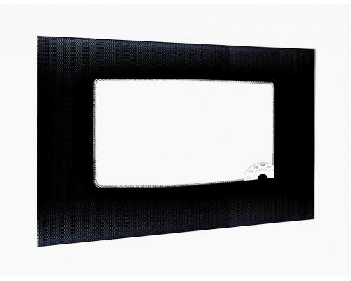 Стекло духовки наружное плиты GEFEST 1100, черное, 598*417мм, с указателем температуры (1100.66.0.003-12)