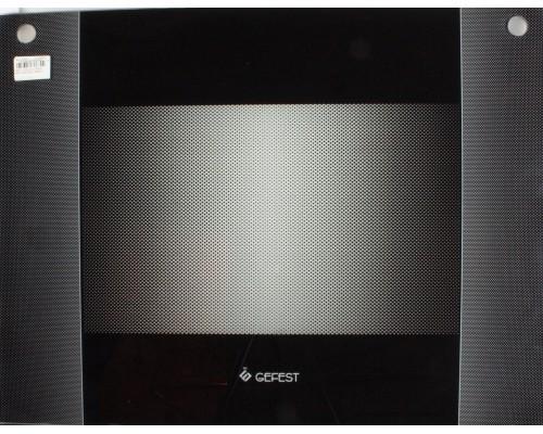 Стекло духовки наружное плиты GEFEST 1500 К32, черное, 598*450мм, до 2007г.в. (1300.11.0.001-14)