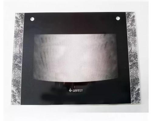 Стекло духовки наружное плиты GEFEST 1500, черный мрамор, 598*450мм (1300.11.0.001-11)