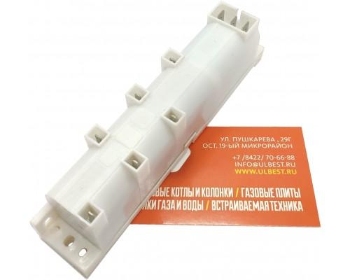Блок розжига GEFEST BR-1-6 (одноразрядный) 6-и канальный (142*27*36мм)