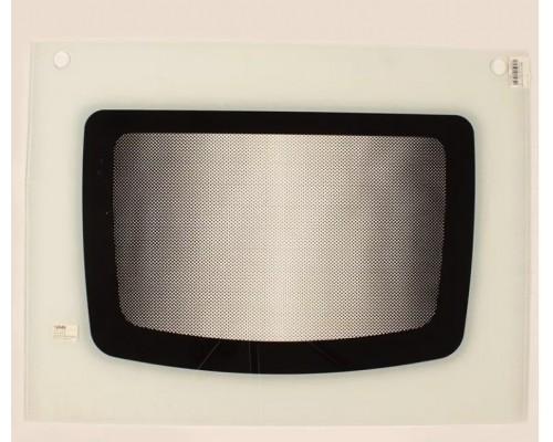 Стекло духовки наружное плиты GEFEST 1200, белое, с отверстиями под ручку духовки, 598*450мм (1300.11.0.001-09 p.5)
